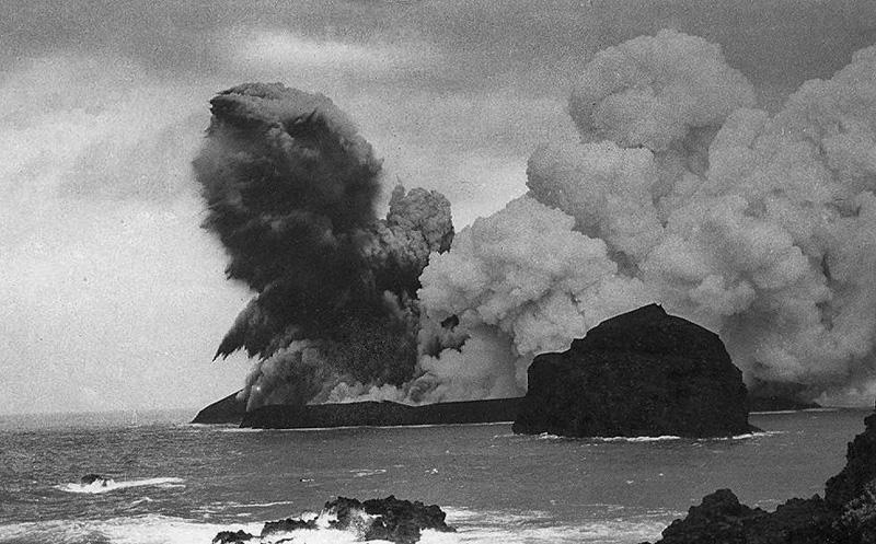 Resultado de imagem para erupção submarina, capelinhos